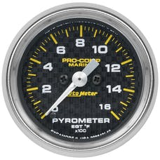 "AutoMeter Products 200842-40 Gauge, Pyrometer, 2 1/16"", 0-1,600Γö¼Γòæf, Marine Carbon Fiber"