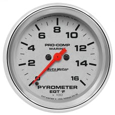 "AutoMeter Products 200844-35 Gauge, Pyrometer, 2 5/8"", 0-1,600Γö¼Γòæf, Marine Chrome"