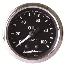 AutoMeter Products 201006 Gauge; Oil Pressure; 2 1/16in.; 100psi; Mechanical; Cobra