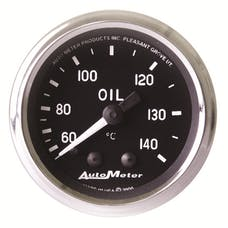 AutoMeter Products 201008 Gauge; Oil Temp; 2 1/16in.; 60-140deg.C; Mechanical; Cobra