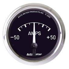 AutoMeter Products 201012 Gauge; Ammeter; 2 1/16in.; 50A; Electric; Cobra