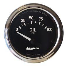 AutoMeter Products 201014 Gauge; Oil Pressure; 2 1/16in.; 100psi; Electric; Cobra