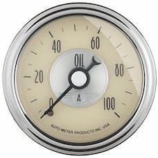 "AutoMeter Products 2021 2-1/16"" Oil Pressure, 0-100 psi, Mech, Prestige White"