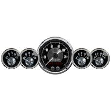 "AutoMeter Products 2024 Gauge Kit, 5 Pc, 3 3/8"" & 2 1/16"", Gps Speedo, Prestige Blk Diamond"