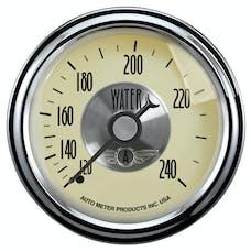 AutoMeter Products 2032 Gauge; Water Temp; 2 1/16in.; 240deg.F; Mech; Prestige Antq. Ivory