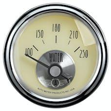 AutoMeter Products 2037 Gauge; Water Temp; 2 1/16in.; 250deg.F; Elec; Prestige Antq. Ivory