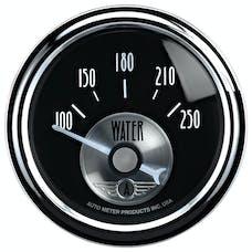 AutoMeter Products 2038 Gauge; Water Temp; 2 1/16in.; 250deg.F; Elec; Prestige Blk. Diamond