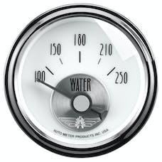 AutoMeter Products 2039 Gauge; Water Temp; 2 1/16in.; 250deg.F; Elec; Prestige Pearl