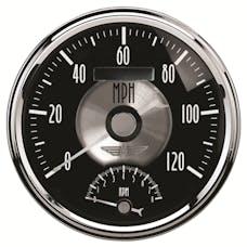 AutoMeter Products 2091 Gauge; Tach/Speedo; 5in.; 120mph/8k RPM; Elec. Program; Prestige Blk. Diamond