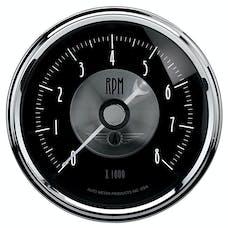 AutoMeter Products 2096 Gauge; Tachometer; 3 3/8in.; 8k RPM; In-Dash; Prestige Blk. Diamond