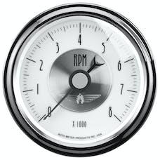 AutoMeter Products 2098 Gauge; Tachometer; 3 3/8in.; 8k RPM; In-Dash; Prestige Pearl