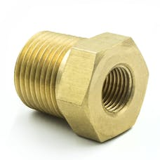 "AutoMeter Products 2284 Adapter Fitting, 3/8"" NPT Male, 1/8"" NPT Female, Brass"