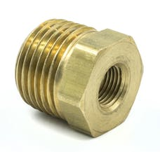 "AutoMeter Products 2285 Adapter Fitting, 1/2"" NPT Male, 1/8"" NPT Female, Brass"