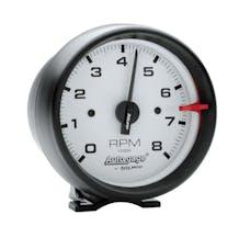 AutoMeter Products 2303 Gauge; Tach; 3 3/4in.; 8k RPM; Pedestal; Wht Dial Blk Case; AutoGage