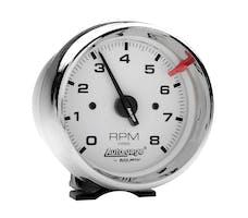 AutoMeter Products 2304 Gauge; Tach; 3 3/4in.; 8k RPM; Pedestal; Wht Dial Chrome Case; AutoGage