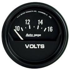 AutoMeter Products 2319 Gauge; Voltmeter; 2 5/8in.; 16V; Elec; Black; AutoGage