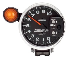 AutoMeter Products 233906 Tach W/Shift-Light & Memory  10 000 RPM