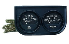 AutoMeter Products 2345 2 Gauge Console  Oil/Water