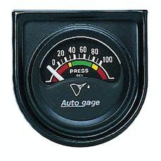 AutoMeter Products 2354 GAUGE CONSOLE; OIL PRESS; 1.5in.; 100PSI; ELEC; BLK DIAL; BLK BEZEL; AUTOGAGE