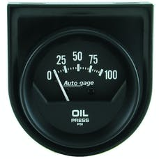 AutoMeter Products 2360 GAUGE CONSOLE; OIL PRESS; 2in.; 100PSI; MECH; SHORT SWEEP; BLACK; AUTOGAGE