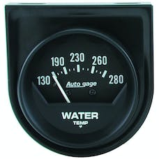 AutoMeter Products 2361 Gauge Console; Water Temp; 2in.; 280deg.F; Mech; Short Sweep; Black; AutoGage