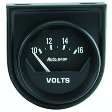 AutoMeter Products 2362 Gauge Console; Voltmeter; 2in.; 16V; Short Sweep; Black; AutoGage