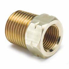 AutoMeter Products 2372 Fitting; Adapter; 1/2in. NPT Male; Brass; for Auto Gage Mech. Temp.