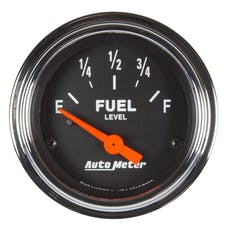 """AutoMeter Products 2519 Fuel Level Gauge 2 1/16"""", 73?E TO 10?F Electric Traditional Chrome"""