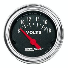 AutoMeter Products 2592 Gauge; Voltmeter; 2 1/16in.; 18V; Elec; Traditional Chrome