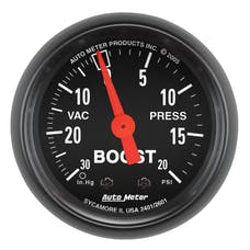 AutoMeter Products 2601 Boost/Vac  30 In. Hg-Vac/ 20 PSI