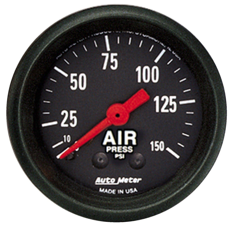 Auto Meter 2620 Z-Series 2-1//16 0-150 PSI Mechanical Air Pressure Gauge