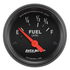 AutoMeter Products 2642 GAUGE; FUEL LEVEL; 2 1/16in.; 73OE TO 10OF; ELEC; Z-SERIES