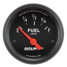 AutoMeter Products 2643 Gauge; Fuel Level; 2 1/16in.; 240OE to 33OF; Elec; Z-Series