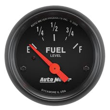 AutoMeter Products 2648 Gauge; Fuel Level; 2 1/16in.; 0OE to 30OF; Elec; Z-Series
