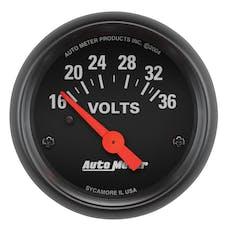AutoMeter Products 2651 Gauge; Voltmeter; 2 1/16in.; 16-36V; Elec; Z-Series
