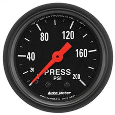 """AutoMeter Products 2657 Pressure Gauge 2 1/16"""", 200psi, Mechanical, Z-Series"""