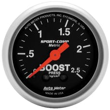 AutoMeter Products 3304-J Gauge; Boost; 2 1/16in.; 2.5kg/cm2; Mechanical; Sport-Comp