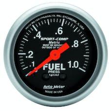 AutoMeter Products 3311-J Fuel Press  0-1.0 Kg/Cm2