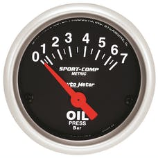 AutoMeter Products 3327-M Gauge; Oil Pressure; 2 1/16in.; 7 BAR; Electric; Sport-Comp