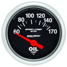 AutoMeter Products 3348-M Gauge; Oil Temp; 2 1/16in.; 60-170deg.F; Electric; Sport-Comp