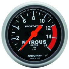 AutoMeter Products 3374 Gauge; Nitrous Pressure; 2 1/16in.; 1600psi; Digital Stepper Motor; Sport-Comp