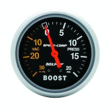 AutoMeter Products 3401 Gauge; Vac/Boost; 2 5/8in.; 30inHg-20psi; Mechanical; Sport-Comp