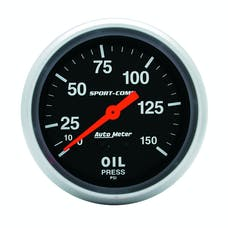 AutoMeter Products 3423 Gauge; Oil Pressure; 2 5/8in.; 150psi; Mechanical; Sport-Comp