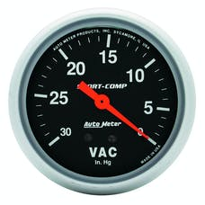 AutoMeter Products 3484 Vacuum Gauge  30 In. Hg