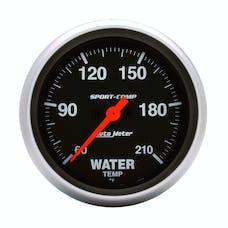 AutoMeter Products 3569 Gauge; Low Water Temp; 2 5/8in.; 60-210deg.F; Digital Stepper Motor; Sport-Comp