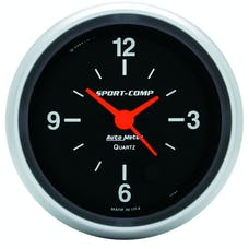 AutoMeter Products 3585 Gauge; Clock; 2 5/8in.; 12Hr; Analog; Sport-Comp