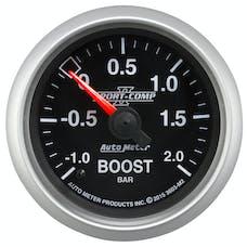 "AutoMeter Products 3603-M2 Vac/Boost Gauge 2 1/16"", -1 - +2 Bar, Mechanical Sport Comp II"