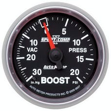 AutoMeter Products 3607 Boost/Vac 30in Hg/20 PSI Full Sweep