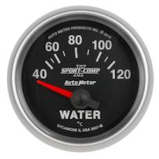"""AutoMeter Products 3637-M Water Temperature Gauge 2 1/16"""", 40-120Γö¼ΓòæC, Electric Sport Comp II"""