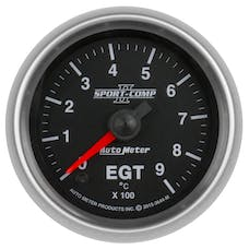 "AutoMeter Products 3644-M Pyrometer Gauge (EGT), 2 1/16"", 900Γö¼ΓòæC, Digital Stepper Motor, Sport Comp II"